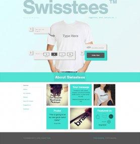 喀什Swisstees服装企业商城网站建设